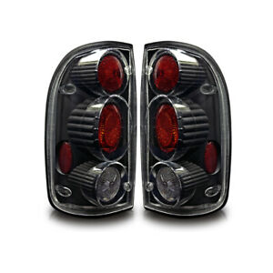 2001 2004 Toyota Tacoma Tail Lights Black Clear Altezza Rear Lamps Pair