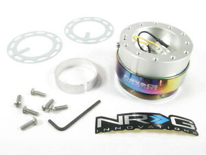 Nrg Steering Wheel Quick Release Kit Gen 2 0 Silver Body W Neo Chrome Ring New