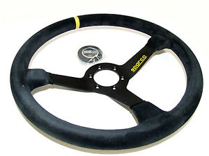 Sparco Steering Wheel R368 380mm 65mm Dish Suede