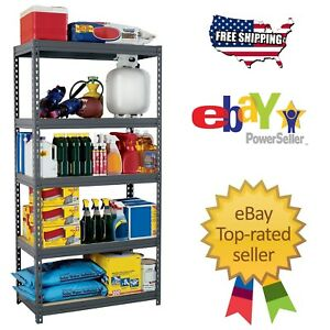 New Edsal Heavy Duty Boltless Rivet Garage Storage Shelving Rack 36 X 18 X 72