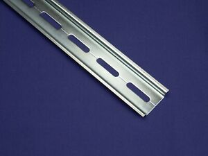 20 Pieces Din Rail Narrow Slotted Steel Rohs Compliant 35mm X 7 5mm 2m Long