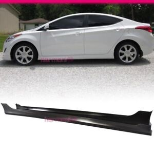 Fits 2011 2013 Hyundai Elantra 4dr Pp Material Side Skirt Pair Oe Style