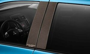 New Oem 2015 Mitsubishi Outlander Sport B Pillar Carbon Fiber Look Trims