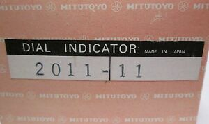 Mitutoyo Dial Indicator 2011 11 0 02mm 0 5mm