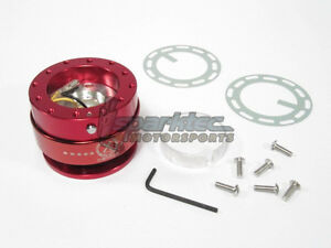 Nrg Steering Wheel Quick Release Kit Generation 2 0 Red Body W Red Ring New
