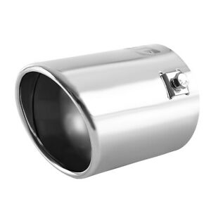 Round Car Chrome Exhaust Tail Muffler Tip Pipe Fit Diameter 1 1 2 To 2 3 4