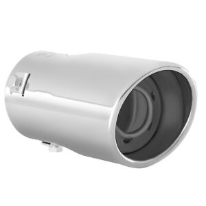 Car Muffler Tip Exhaust Pipe Stainless Steel Chrome Effect Fit 1 75 2 25 Inch