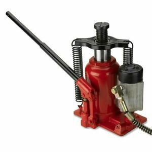 20 Ton Air Manual Pneumatic Hydraulic Bottle Jack Lift Repair Tool