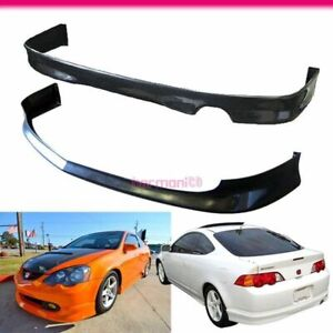 Fits 2002 2004 Acura Rsx 2dr Pu Front Rear Bumper Lip Jdm Style
