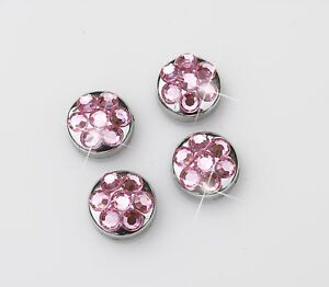 Pink Crystal Rhinestone Screw Caps For Crystal Bling Sparkle License Plate Frame