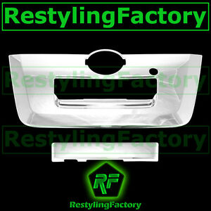Triple Chrome Tailgate Handle W camera Hole Cover 2013 For 13 14 Nissan Frontier