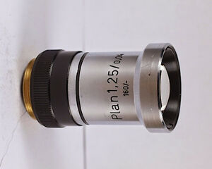 Rare Zeiss Plan 1 25x 0 04 160 Tl Microscope Objective
