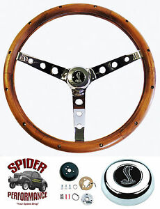 1970 1973 Mustang Torino Steering Wheel Cobra 15 Classic Walnut Steering Wheel