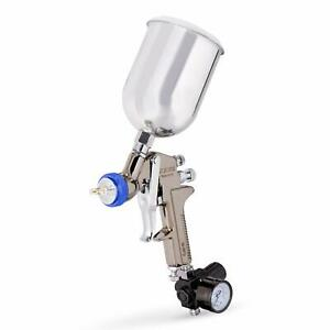 1 3 Mm Nozzle Pro Gravity Fee Air Paint Spray Gun W Gauge