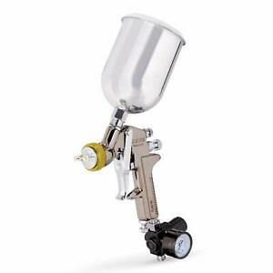 1 7 Mm Nozzle Pro Gravity Fee Air Paint Spray Gun W Gauge