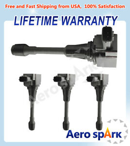 4pcs Uf549 Ignition Coil For 2011 2017 Nissan Altima Sentra Tiida Infiniti Fx50