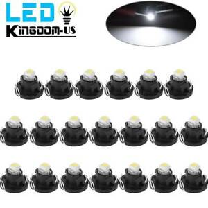 20x White T4 T4 2 Neo Wedge Led Bulb Cluster Instrument Dash Climate Base Lights