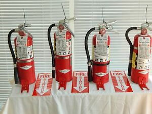 Fire Extinguisher 5lb Abc Dry Chemical Lot Of 4 scratch dent