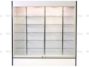 Wall White Display Show Case Retail Store Fixture With Lights Knocked Down wc6w