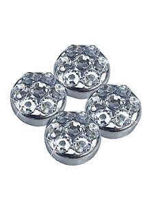 Clear Crystal Rhinestone Screw Caps For Crystal Bling License Plate Frame