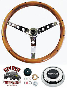 1970 1976 Duster Steering Wheel Plymouth 15 Classic Walnut