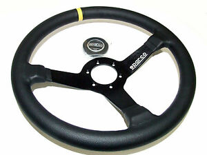 Sparco Steering Wheel R345 350mm 63mm Dish leather