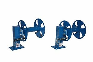 Blue Set Of Two 10 Single Welding Cable Lead Reels