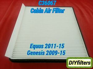 C36067 High Quality Cabin Air Filter For Equus 2011 15 Genesis 2009 15
