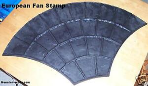 1 European Fan Decorative Concrete Cement Texture Stamp Mat Form Rigid Stamping