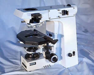Zeiss Axioplan Fluorescent Microscope Frame Stand With Stage