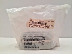Sealed New Harting Connector 09380082653 Hank 8 0 m Hank80m 100a 10 25qmm