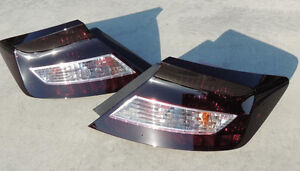 12 14 Honda Civic Smoked Tail Lights Custom Oe Non Led Black Tinted Coupe 2dr