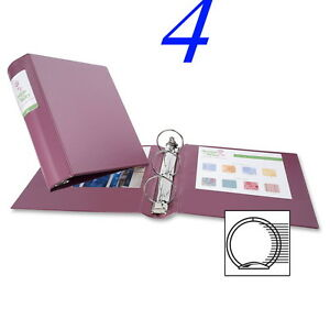 4 Avery 06632 Heavy duty Binder With Round Rings 3 Capacity Mauve Ave06632
