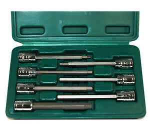 Atd 7pc Sae Extra Long Hex Bit Socket Set 3 8 Dr Lifetime Warranty 13786