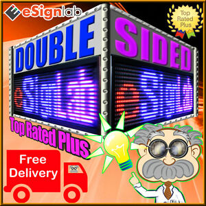 Rbp 19 X 69 Double sided Outdoor Programmable Scrolling Led Sign 25mm