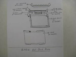 76 0339 3 Door For Ice Bin Model B970 7603393