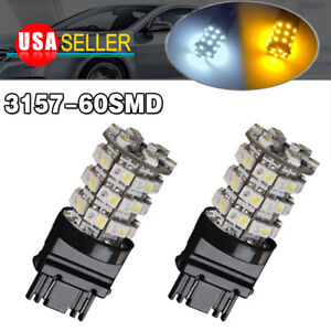 2x 3157 3156 Amber Yellow High Power 15w Led Turn Signal Blinker Parking Lights
