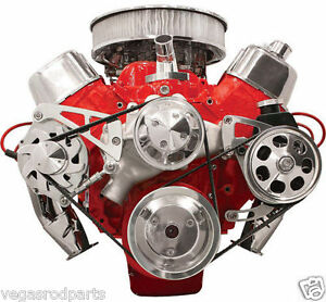 Big Block Chevy Alternator And Power Steering Kit Serpentine Aluminum Pulley Kit