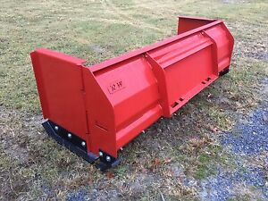 New Quality 8 10 Ft Snow Pusher Box Blade Skidsteer tractor Low Cost Shipping