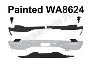 Painted White Rear Bumper Bar Retainer Top Lower Pads For 00 06 Suburban Yukon