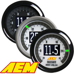 Aem 30 4900 Digital Wideband Uego Air Fuel Boost Gauge Failsafe Full Warranty
