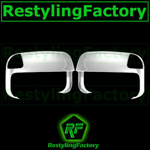 Triple Chrome Top Half Tow Towing Mirror Cover For 10 18 Dodge Ram 1500 2500 350