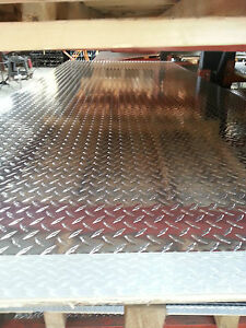 Aluminum Alloy 3003 Diamond Plate Tread Brite 120 X 24 x 48 lot Of 4 Pcs