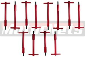 Sb Ford Red Billet Tall T bar Valve Cover Hold Down Kit Sbf 289 302 351w Bolts