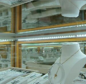 Led Replacement Showcase Lighting 32 Ft Kit Jewelry Display Case Ring
