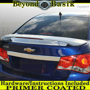 2011 2012 2013 2014 2015 Chevy Cruze Trunk Spoiler Factory Style W led Primer