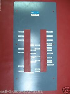 Used 200 Amp Pushmatic Electri center Bulldog Panel Cover 40 Space