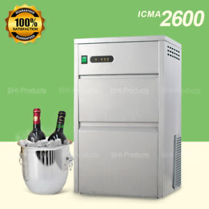 Home Commercial Ice Maker Countertop 60lbs day Stainless Steel Machine Kitchen