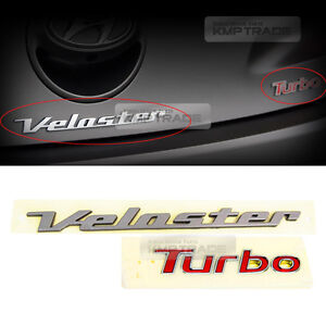 Oem Genuine Veloster Turbo Rear Emblem For Hyundai 2011 2017 Veloster Turbo