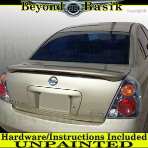 For 2002 2003 2004 2005 2006 Nissan Altima Factory Style Spoiler W led Unpainted